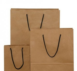 rope handle carrier bags