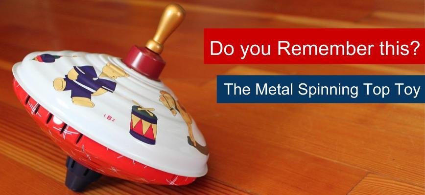 metal spinning top toy